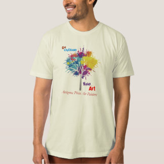Go Outside Make Art - Arizona Plein Air Painters T-Shirt