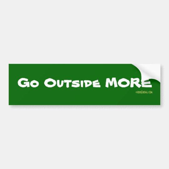 Go Outside More Bumper Sticker