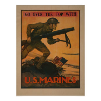 Go Over the Top with U.S. Marines Poster