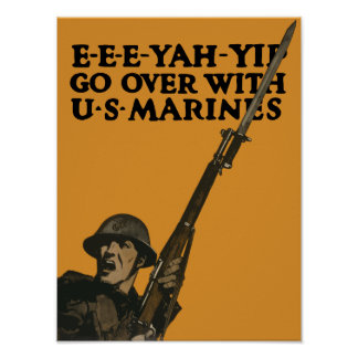Go Over With Marines -- WWI Poster