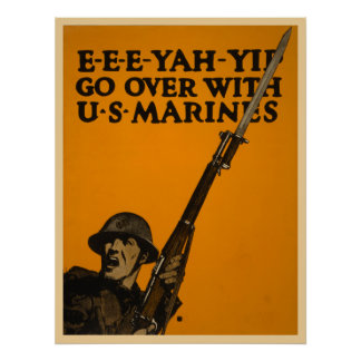 Go Over With U S Marines Poster
