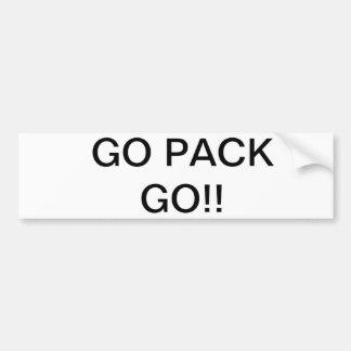GO PACK GO!! BUMPER STICKER
