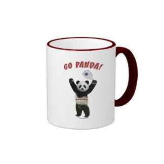 Go Panda Racquetball Ringer Coffee Mug