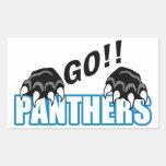 Go Panthers Rectangular Sticker