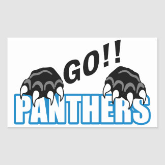 Go Panthers Rectangular Sticker