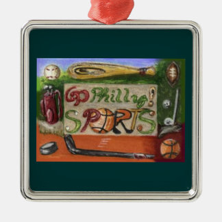 Go Philly Sports Square Ornament