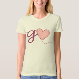 Go Pink Ladies Organic Fitted Tee