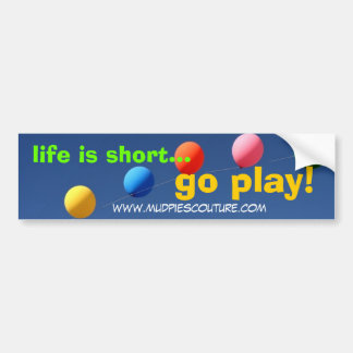 go play - Customized Car Bumper Sticker