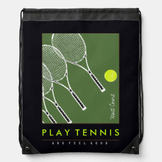 go play tennis drawstring backpack