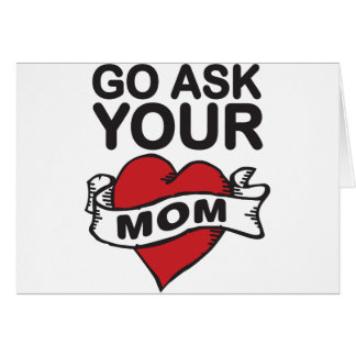 Go pregunta a su mamá tarjeta de felicitación