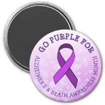 Go Purple for  Alzheimer's & Brain Awareness Month Magnet