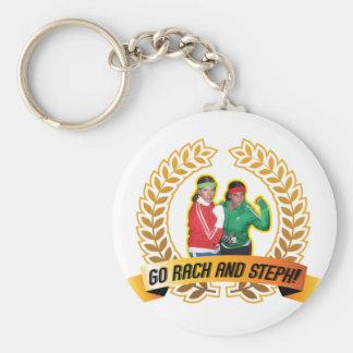Go Rach and Steph Keychains