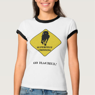 Go Rachel Alexandra - Superfilly Crossing Tshirts