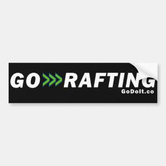 Go Rafting Bumper Sticker (Dark Background)