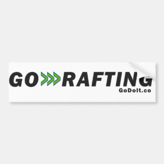 Go Rafting Bumper Sticker (Light Background)