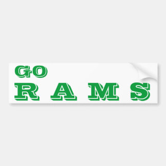 Go Rams* Bumper Sticker