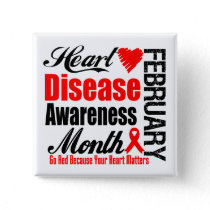 Go Red Awareness Month - Heart Disease Matters Button