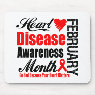 Go Red Awareness Month - Heart Disease Matters Mouse Pad