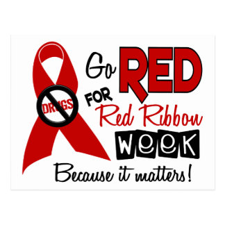 Go Red For Red Ribbon Week Postcard