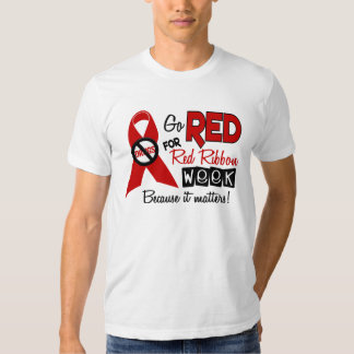 Go Red For Red Ribbon Week T-shirt