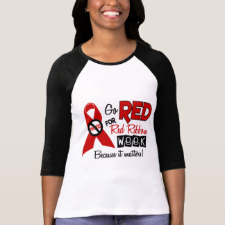 Go Red For Red Ribbon Week T Shirt