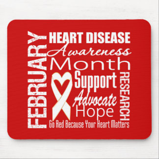 Go Red Heart Disease Awareness Month Matters Mouse Pad