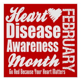 Go Red Heart Disease Awareness Month Poster