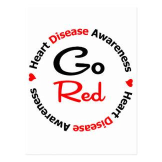 GO RED Heart Disease Postcard