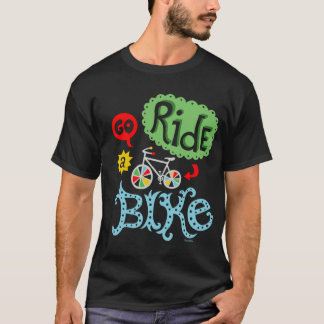 Go Ride a Bike - Black T shirt