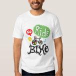 Go Ride a Bike - White T shirt