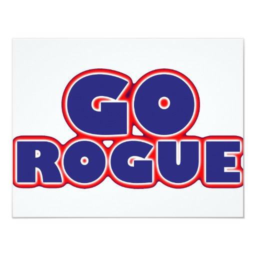 Go Rogue 4.25x5.5 Paper Invitation Card