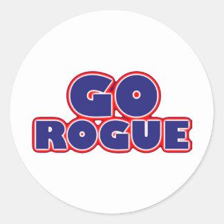 Go Rogue Classic Round Sticker