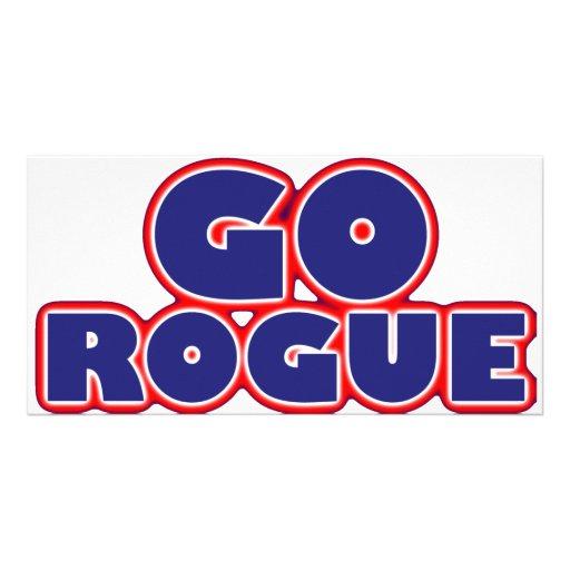 Go Rogue Customized Photo Card