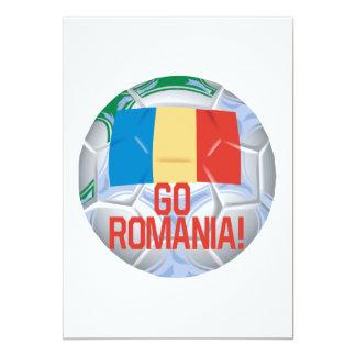 Go Romania 5x7 Paper Invitation Card