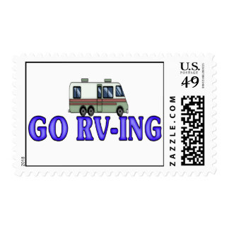 GO RV-ING POSTAGE STAMPS