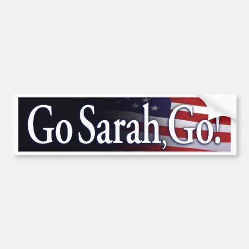 go_sarah_go_Black bumper sticker