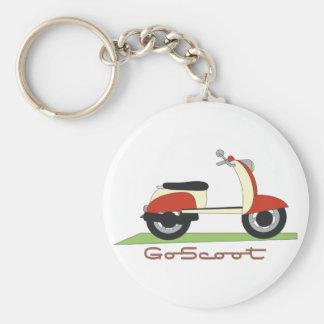 Go Scoot Basic Round Button Keychain