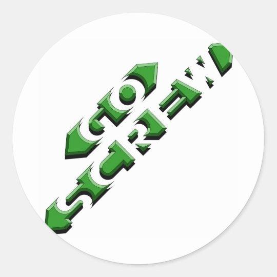 Go Screw Classic Round Sticker