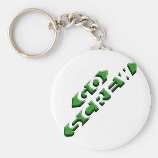 Go Screw Basic Round Button Keychain
