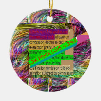 Go SHOPPING : Wear a LOW PRICE tag SHIRT BUTTON Christmas Ornament