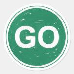 Go Sign Classic Round Sticker