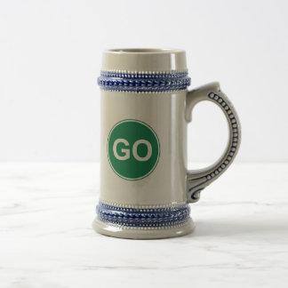 GO Sign 18 Oz Beer Stein