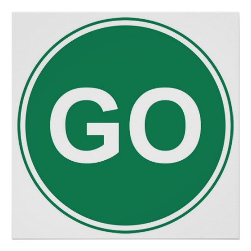 Go Sign Posters Zazzle