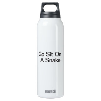 Go Sit On A Snake 16 Oz Insulated SIGG Thermos Water Bottle