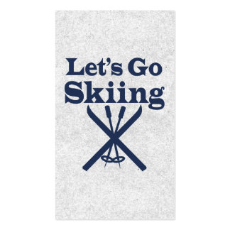 Go Skiing Double-Sided Standard Business Cards (Pack Of 100)