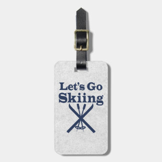 Go Skiing Luggage Tags
