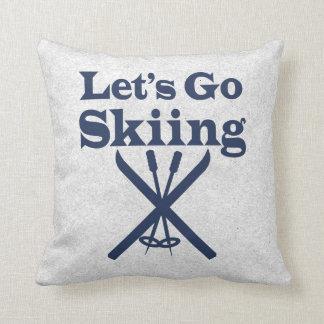 Go Skiing Pillows