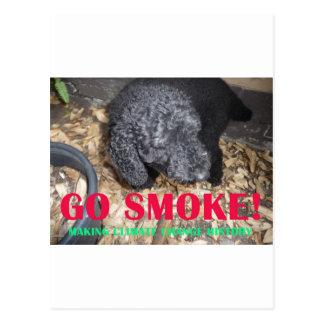 GO SMOKE POSTCARD