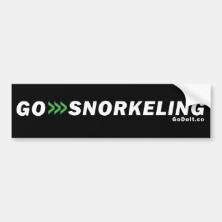 Go Snorkeling Bumper Sticker (Dark Background)