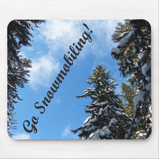Go Snowmobiling Mouse Pad